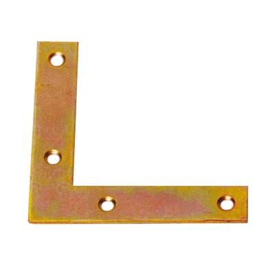 Piastra angolare standers in acciaio zincato L 100 x Sp 2 x H 20 mm  4 pezzi
