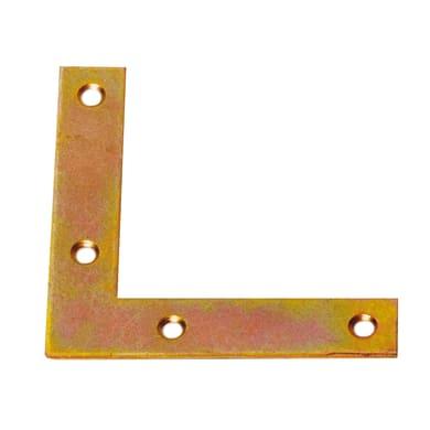 Piastra angolare standers in acciaio zincato L 120 x Sp 2 x H 20 mm  4 pezzi