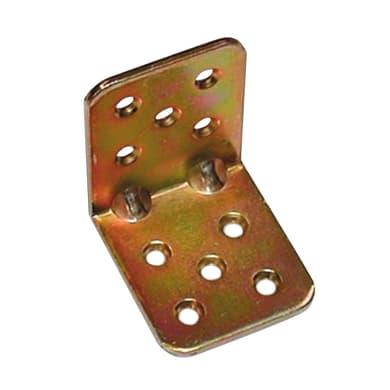 Piastra angolare standers in acciaio zincato L 45 x Sp 2.5 x H 40 mm