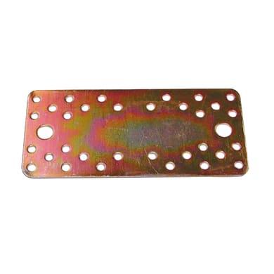 Piastra dritta standers in acciaio zincato L 200 x Sp 3 x H 90 mm