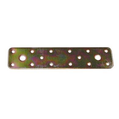 Piastra dritta STANDERS in acciaio zincato L 180 x Sp 2.5 x H 40 mm