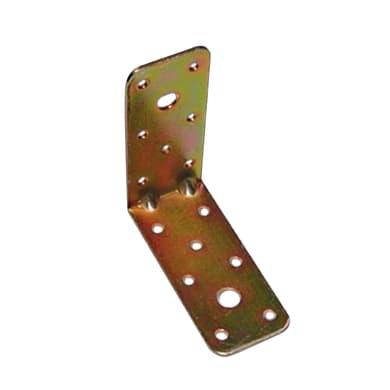 Piastra angolare standers in acciaio zincato L 90 x Sp 2.5 x H 40 mm