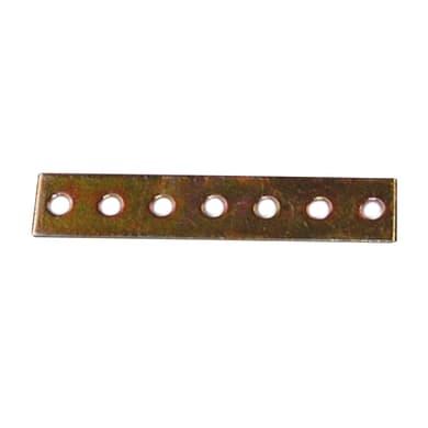 Piastra dritta standers in acciaio zincato L 105 x Sp 2 x H 20 mm
