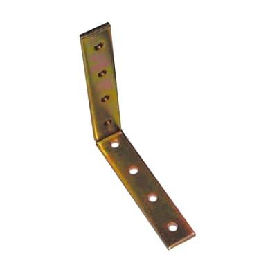 Piastra angolare standers in acciaio zincato L 100 x Sp 4 x H 20 mm
