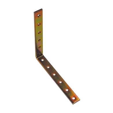 Piastra angolare standers in acciaio zincato L 150 x Sp 4 x H 20 mm