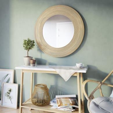 Specchio a parete tondo Utaka naturale 70 cm INSPIRE