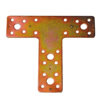 Piastra a t STANDERS in acciaio zincato L 135 x Sp 2.5 x H 150 mm  10 pezzi