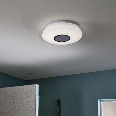 Plafoniera Vizzini bianco, in plastica, diam. 40, LED integrato 10W 2500LM IP44 INSPIRE