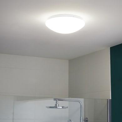 Plafoniera Madyled bianco, in plastica25 cm, diam. 25, LED integrato 12W 1200LM IP44