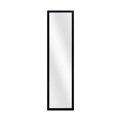 Specchio a parete rettangolare Door nero 30x120 cm INSPIRE