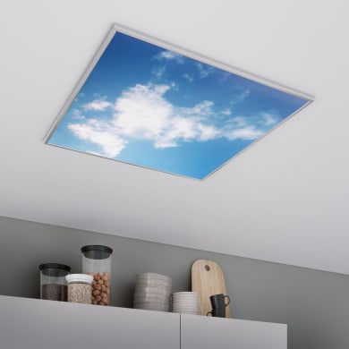 Pannello led Sky 60x60 cm cct regolazione da bianco caldo a bianco freddo, INSPIRE