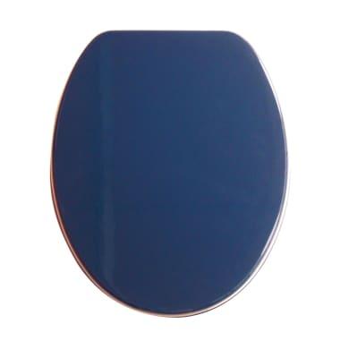 Copriwater ovale Ovale Universale mdf blu