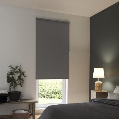 Tenda a rullo INSPIRE Tokyo oscurante grigio scuro 150x250 cm