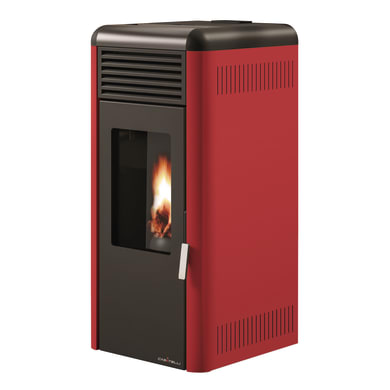 Stufa a pellet Antonio 6 kW bordeaux