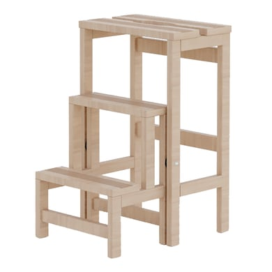 Sgabello in legno COLOMBO Ribaltino 3 gradini