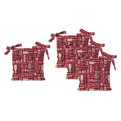 Cuscino per sedia Relax rosso 40x40 cm, 4 pezzi