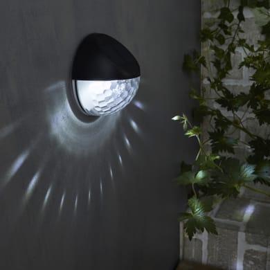 Applique Puno LED integrato in plastica nero 0.04W 5LM IP44
