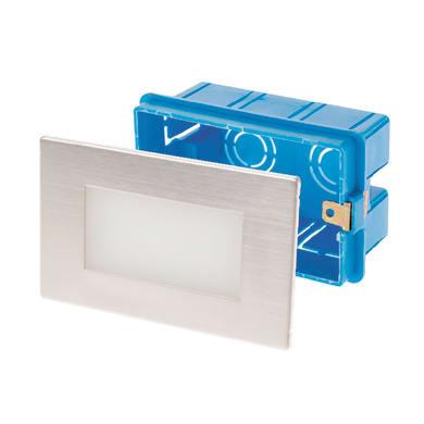 Faretto da incasso da esterno rettangolare 503 LED integrato 6.7 x 10.7 cm 1W 60LM 12 x IP54