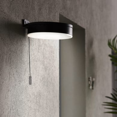 Applique a soffitto Kampala LED integrato in plastica nero 3W 250LM IP44 INSPIRE