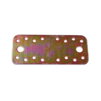 Piastra dritta standers in acciaio zincato L 130 x Sp 2.5 x H 55 mm