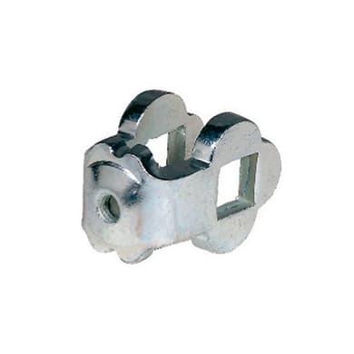 Morsetto in ferro L 4.5 x H 3 cm, spessore 4 mm