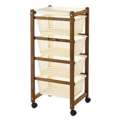 Carrello da cucina in legno L 36 x H 82.5 x P 30 cm