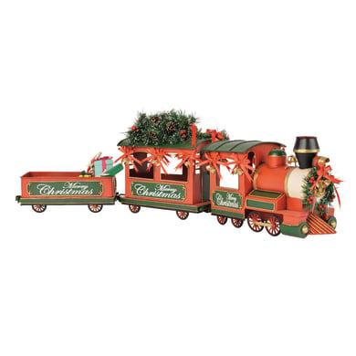 Figura natalizia rosso Trenino L 16 x P 92 x H 30 cm