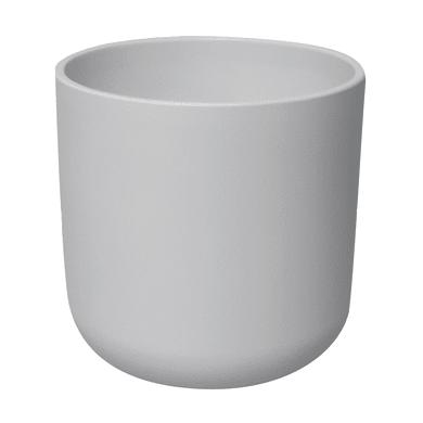 Vaso Cilindro ALMAS S.A. in ceramica colore bianco H 17 cm, Ø 19 cm