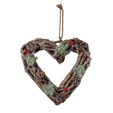 Fuoriporta cuore in legno , L 40 cm  x P 40 cm
