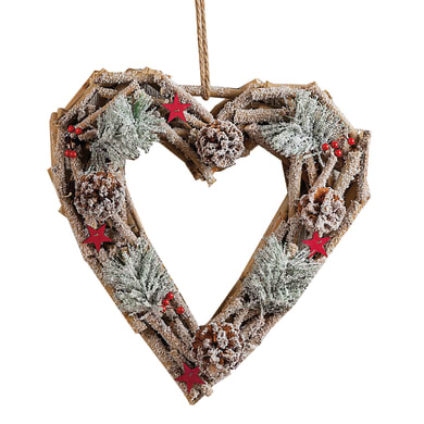Fuoriporta cuore in legno , L 37 cm  x P 37 cm