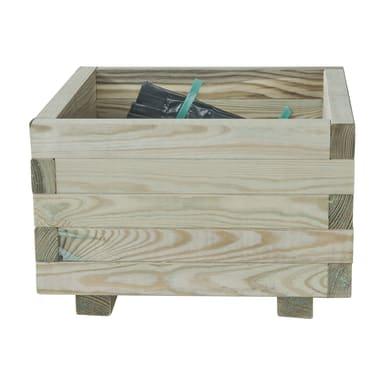 Fioriera STELMET in legno colore naturale H 25.5 cm, L 40 x P 40 cm