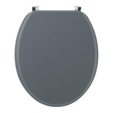 Copriwater ovale Universale Woody Grigio Chiaro WIRQUIN mdf grigio chiaro