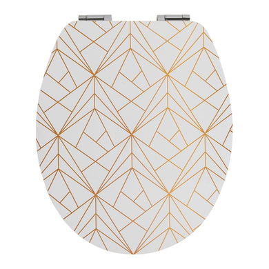 Copriwater ovale Universale Geometric Gold WIRQUIN mdf fantasia