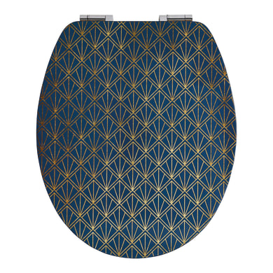 Copriwater ovale Universale Art Deco Blu WIRQUIN mdf fantasia