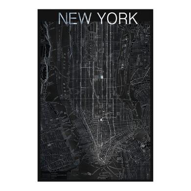 Quadro su tela Mappa New York 30x45 cm