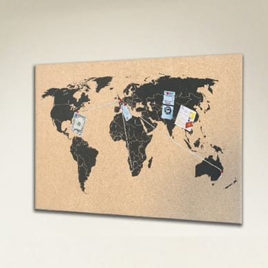Bacheca World multicolor 60x40 cm