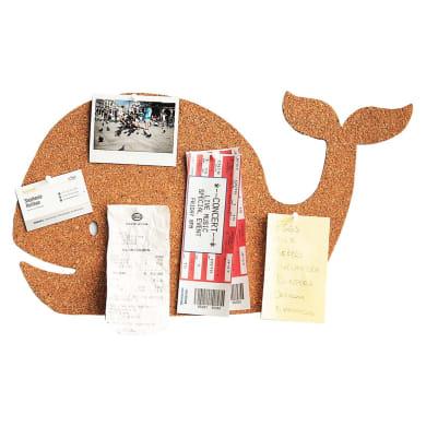 Bacheca in sughero Balena marrone 49.2x27.5 cm