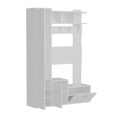 Mobile ingresso Seina L 125 x P 35 x H 184 cm bianco