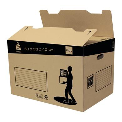 Scatola di cartone per imballare 2 onde L 60 x H 50 x P 40 cm