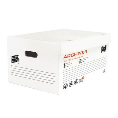 Scatola di cartone per archiviare 1 onda L 54 x H 28 x P 36 cm