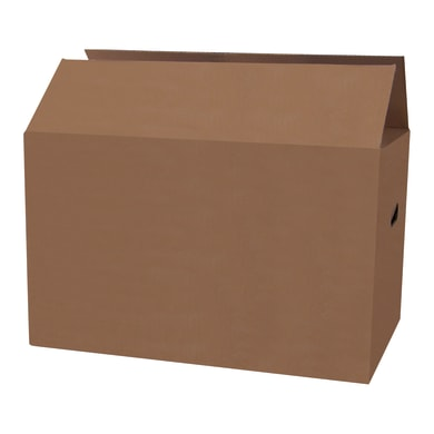Scatola di cartone per imballare 2 onde L 60 x H 40 x P 40 cm