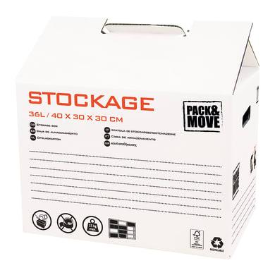 Scatola di cartone per imballare 1 onda L 30 x H 40 x P 30 cm