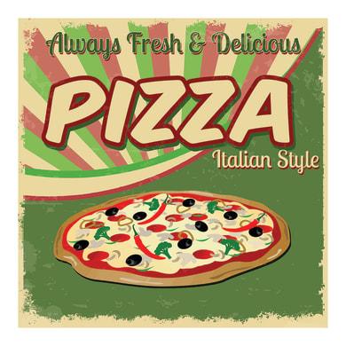 Quadro su tela Pizza 30x30 cm