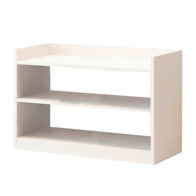 Scarpiera Adolfo L 80 x H 60 x Sp 35 cm bianco