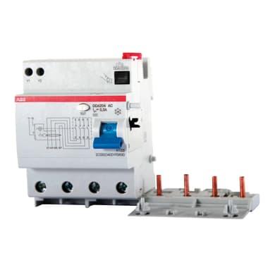 Blocco differenziale ABB DDA204 AC-63 / 0,03 4 poli 63A 30mA AC 8 moduli 400V