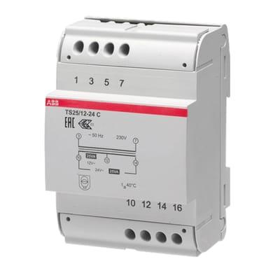 Trasformatore ABB TS-C 25 / 12-24 4 moduli 230V
