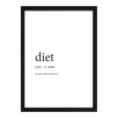 Stampa incorniciata Dieta 18x13 cm