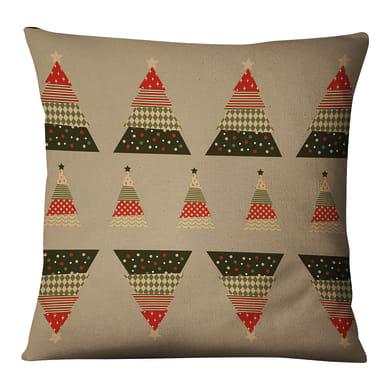 Fodera per cuscino Alberi Natale multicolore 45x45 cm