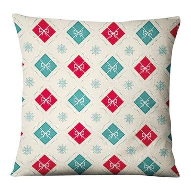 Fodera per cuscino Regali Natale multicolore 45x45 cm