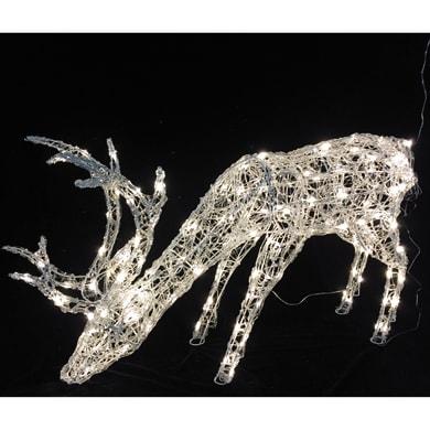 Renna 160 lampadine bianco caldo H 64 cm